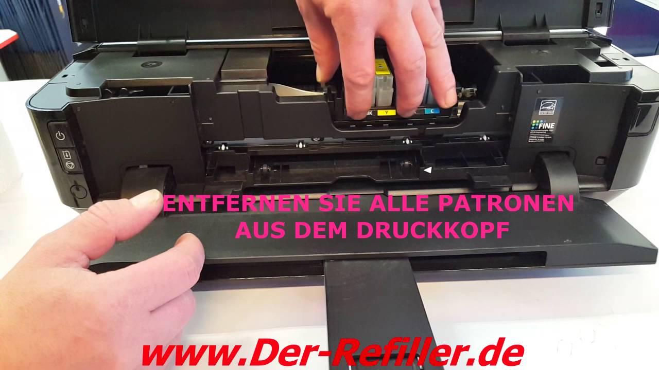 Druckkopf ausbauen drucker epson Canon Druckkopf