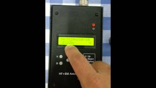 How to operate the AW06A antenna analyzer de 9M6WST