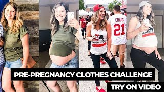 Pre-Pregnancy Clothes Challenge // 35 Weeks w/ TWINS // Sarah …