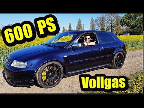 VOLLGAS Auf Der Autobahn Im 600 PS Audi S3 - TurboTsallo