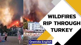 Turkey battles wildfires   3 dead, 58 hospitalised, tourists evacuate   Oneindia News