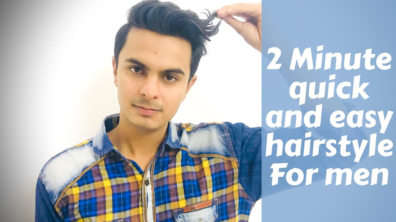 Men S Quick And Easy Hairstyle Without Using A Blow Dryer Mens Hairstyling Tutorial 2017 Youtube