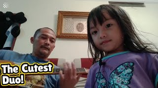 Father and daughter's cute rendition of Rage Against The Machine's
