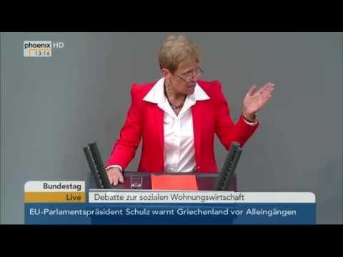 Bundestag: Soziale Wohnungswirtschaft Teil 2 am 29.01.2015