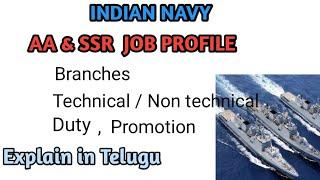 Indian navy job profile explain in Telugu