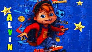 Элвин и Бурундуки - Забавный Элвин - собираем пазлы для детей из  мультика Alvin and the Chipmunks