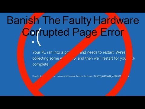 HOW TO FIX faulty hardware corrupted page error (windows 10/8/7)