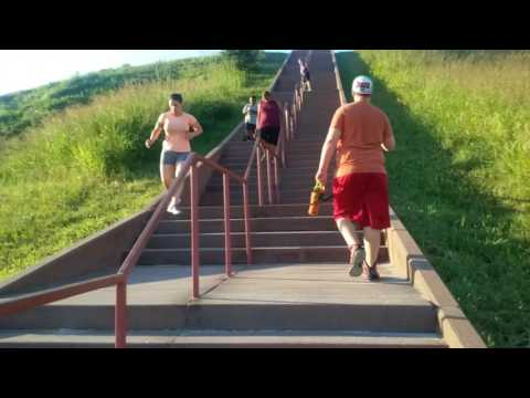 Cahokia Mounds Monk Mound Climb