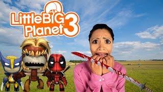 little big planet 3 ps4 multiplayer gameplay murder
