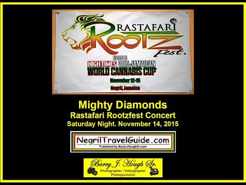 Mighty Diamonds @ Rastafari Rootzfest 2015 Saturday Night Concert, Negril