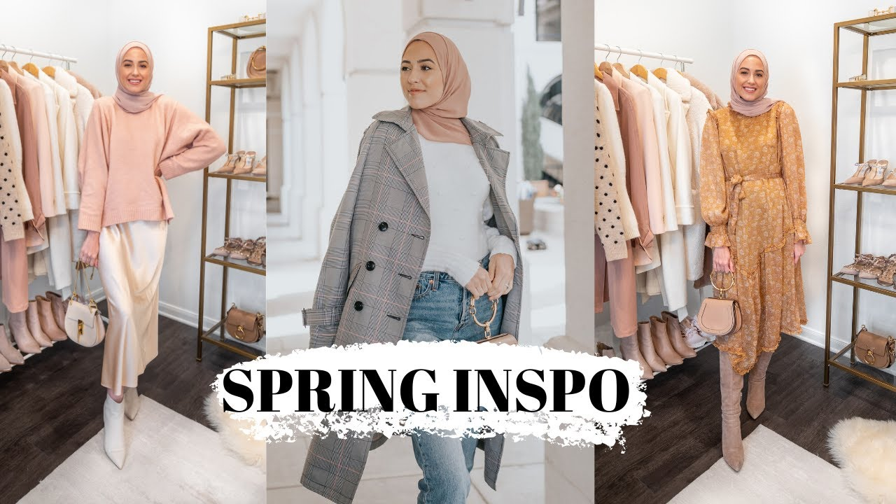 Winter to Spring Outfit Ideas + Favorite Neutral Hijabs from Haute Hijab!