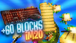 BREEZLY +60 BLOCKS BUTTERFLY (Keyboard and Mouse Sounds ASMR) | ZoneCraft