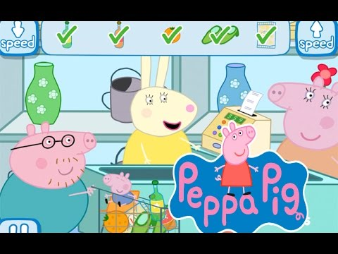 get the shopping list right shopping with peppa pig game. Black Bedroom Furniture Sets. Home Design Ideas