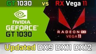 Vega 11 vs. GT 1030 (updated) DX9 DX11 DX12 Test in 9 Games (Ryzen 5 2400G)