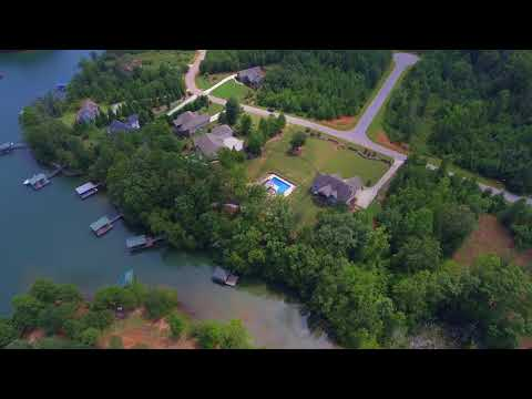 Aerial Video 333 Stardust Lane Moonlight Bay Lake Keowee Waterfront Home Mike Matt Roach Top Guns