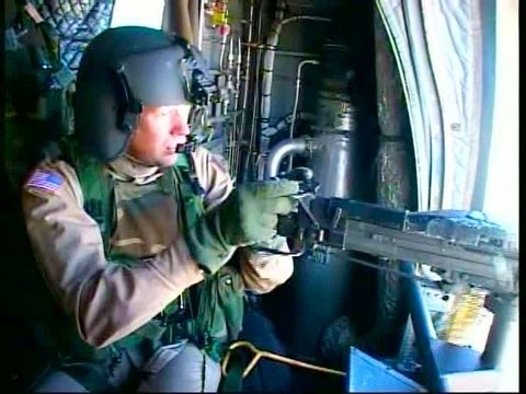 M60 Machine Gun Live Fire From Chinook Helicopters