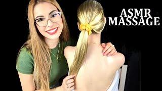 ASMR BACK MASSAGE ❤️ Hair Brushing & Oil Massage