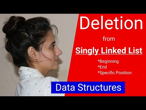 Delete a node from linked list (from beginning, end, specified position) | Data Structure thumbnail