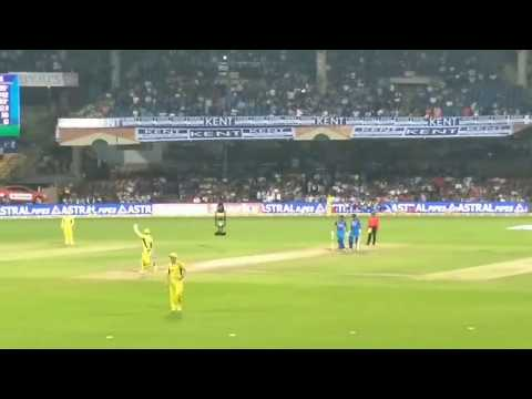 India Vs Australia 4th ODI / Dhoni Entry In Bangalore Chinnasamy Stadium / Half Boiled Updates