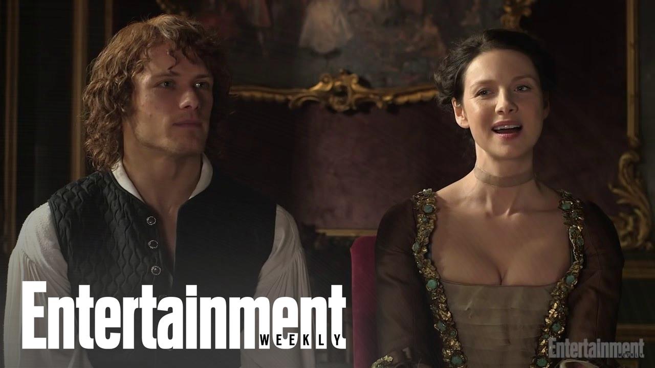 Outlander: Sam Heughan & Caitriona Balfe On Emojis In Character | Cover  Shoot