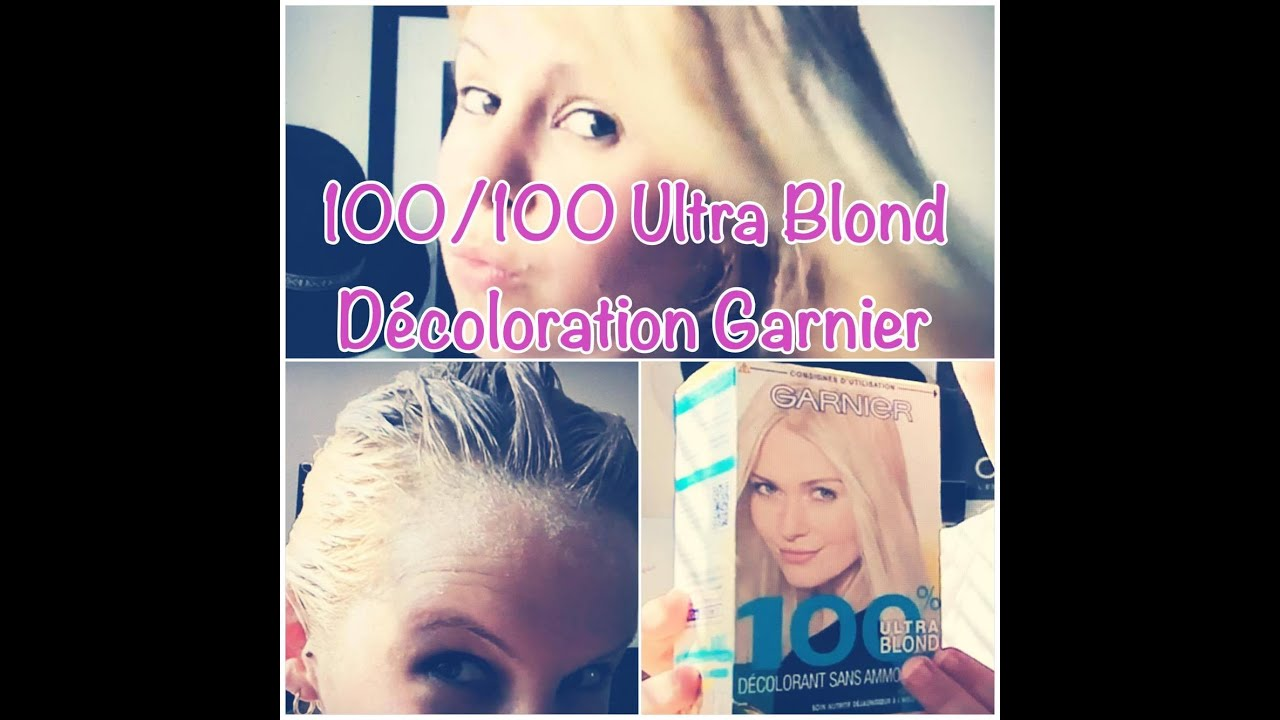 Coloration blond tres clair apres decoloration