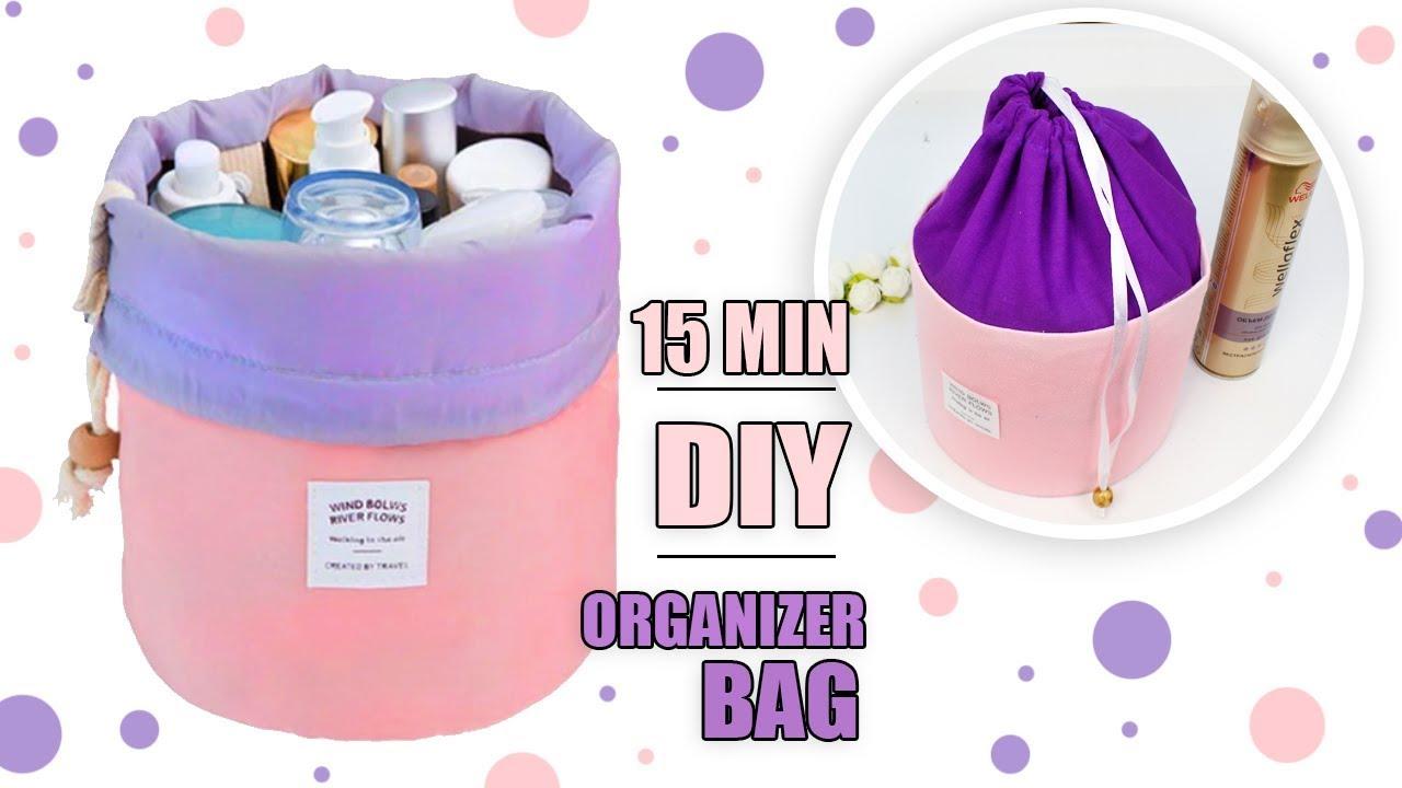 Diy Organizer Storage Beauty Bag Ot Of Cardbox Travel Makeup Bag Tutorial