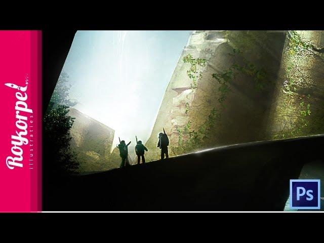 Mysterious Temple - Photoshop speedart - time-lapse