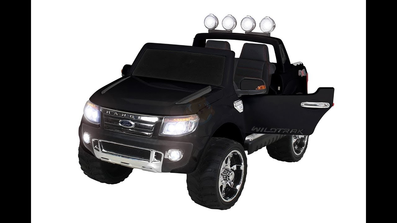 ford ranger kinderauto zwart youtube. Black Bedroom Furniture Sets. Home Design Ideas
