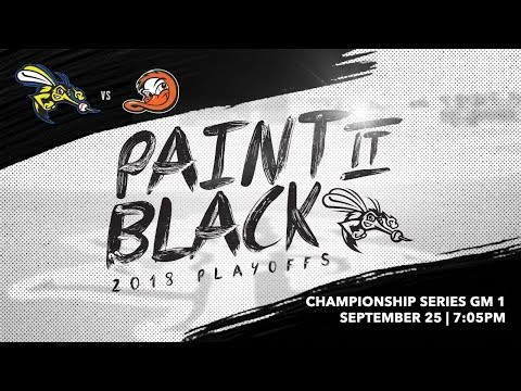 September 25, 2018-Championship Series Game 1 | Sugar Land Skeeters vs Long Island Ducks