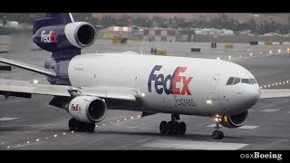 Powerful Reverse Thrust! FEDEX DC-10 Landing San Diego