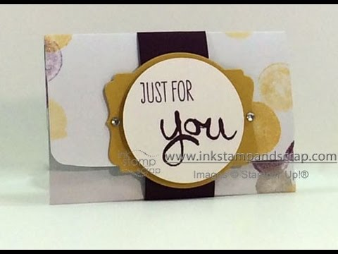 Make a diy gift card holder from stampin up paper youtube solutioingenieria