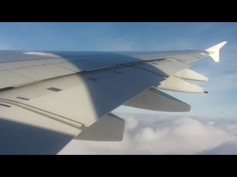 Emirates A380 Landing at Amsterdam! Cloud Surfing! [1080p/60fps]