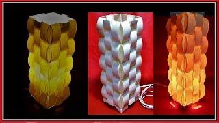 LUMINÁRIA 3D em PVC passo a passo