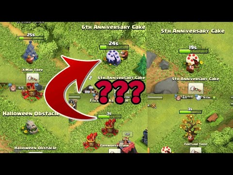 What's Inside the Obstacles Clash of clan | Rare obstacles in coc | Clashofclan