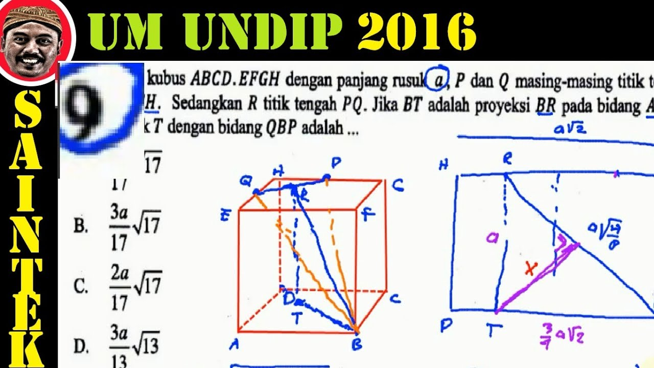 UM UNDIP 2016 ,saintek(555) , Matematika Dasar, Pembahasan