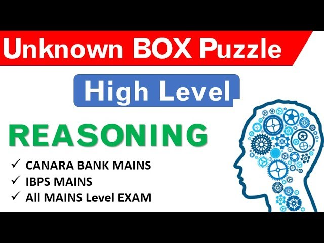 UNKNOWN BOX Based PUZZLE -  HIGH LEVEL  For CANARA BANK , MAINS LEVEL EXAM by OLIVEBOARD