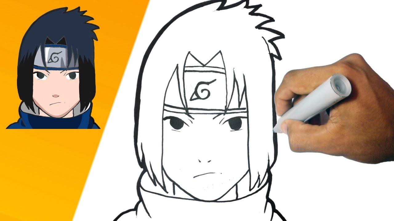 Como Dibujar A Sasuke Naruto Paso A Paso How To Draw Zasuke