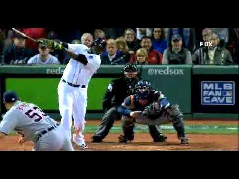 David Ortiz Hits Grand Slam. Game 2 ALCS. FOX, WEEI, WXYT Call