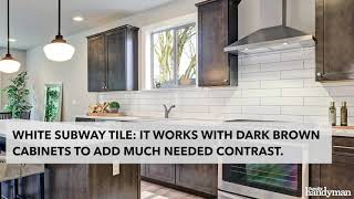 Best Kitchen Backsplash Ideas For Dark Cabinets Youtube