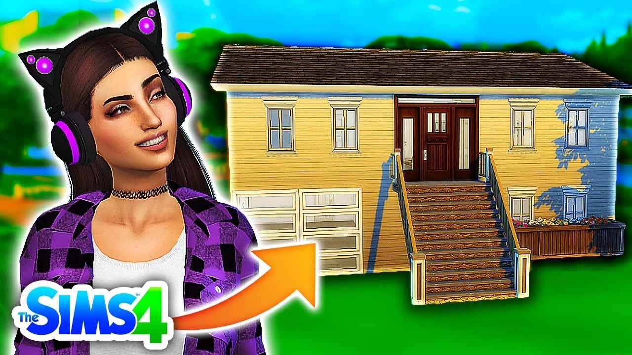 Building My Irl House House Tour In The Sims 4 Simself Ep 1