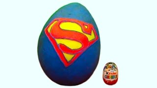 Giant Superman Huge surprise egg unboxing toys