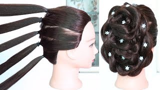 new hairstyle with trick using five pony | wedding hairstyle | party hairstyle | beautiful hairstyle