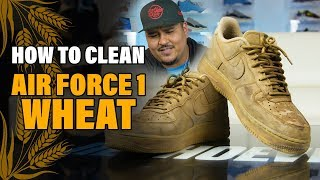The best way to clean Nike Air Force 1 Wheat with Reshoevn8r.