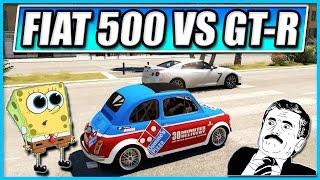 Forza Horizon 2 - Domino's Pizza Fiat 500 VS Nissan GT-R !!! River Bed Racing (w/Tomcat)