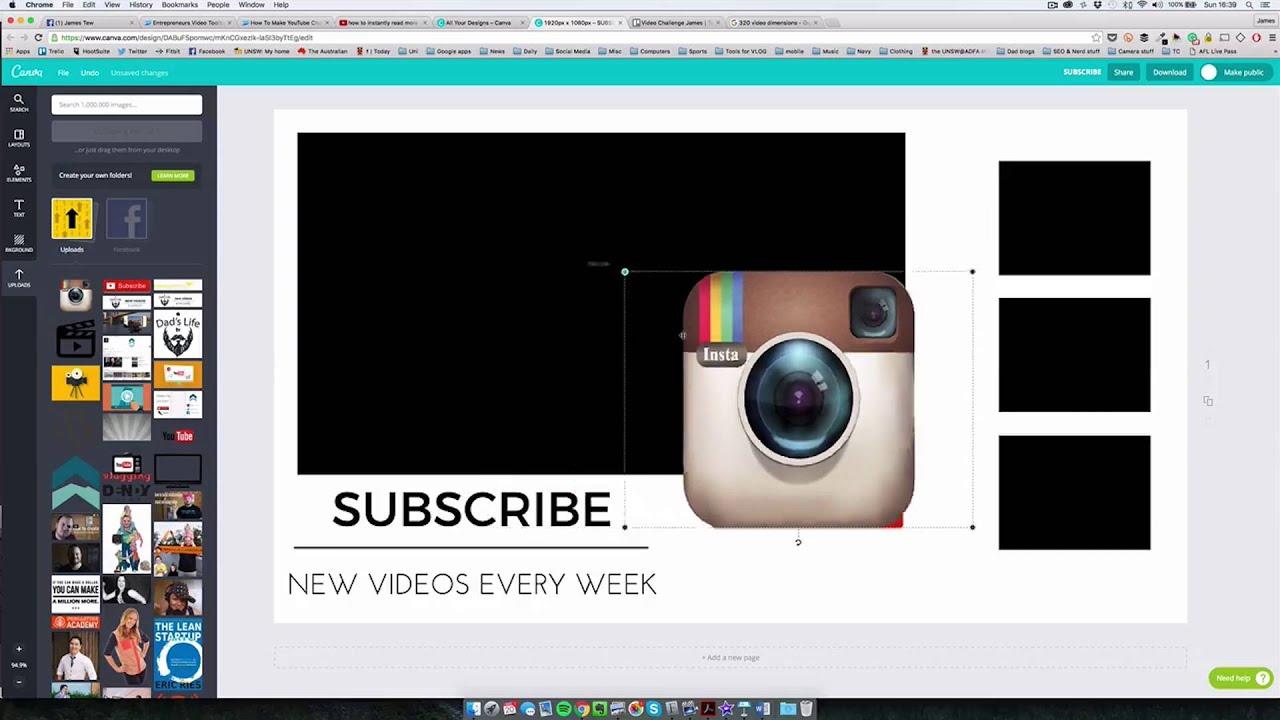 Free YouTube End Screen Templates! Plus