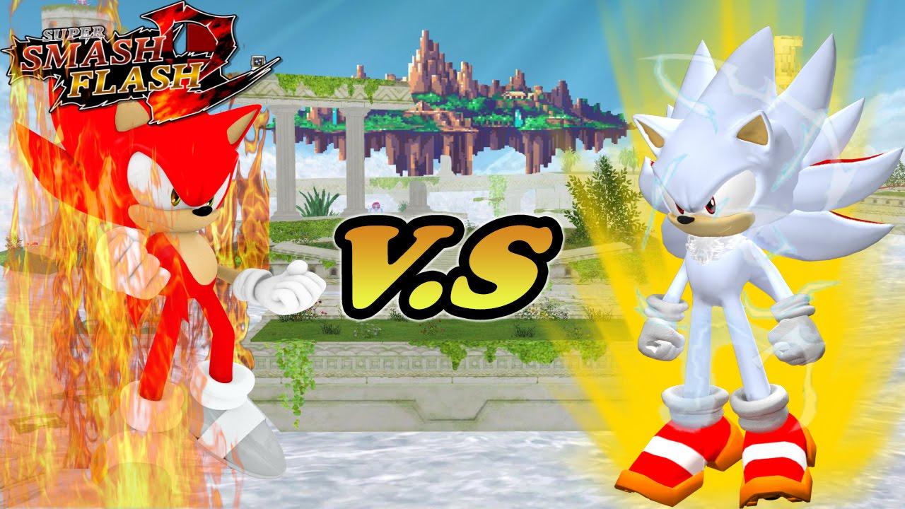 Super Smash Flash 2 Mod Fire sonic VS Shadic - YouTube