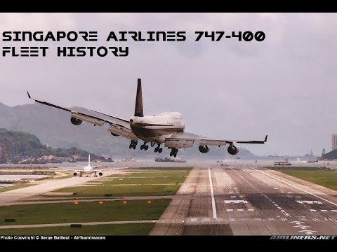 Singapore Airlines Boeing 747-400 Fleet History (1989-2012)