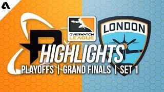 Philadelphia Fusion vs London Spitfire | Overwatch League Grand Finals Highlights Match 1