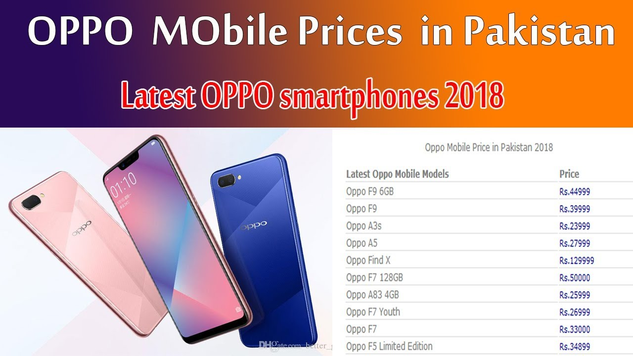 fc5362cfe7c Oppo mobile prices in Pakistan 2018
