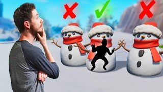 Guess The Right Snowman! | Fortnite